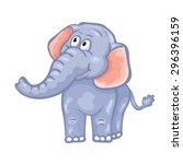 cute cartoon elephant.  | Shutterstock .eps vector #296396159