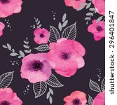 floral seamless pattern with... | Shutterstock . vector #296401847