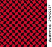 seamless red and black op art...   Shutterstock .eps vector #296402837
