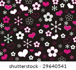 background with flowers and... | Shutterstock . vector #29640541