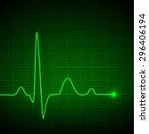 luminous pulse graphic. vector... | Shutterstock .eps vector #296406194