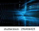 abstract science or technology... | Shutterstock . vector #296406425