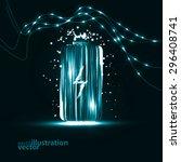 abstract vector battery.... | Shutterstock .eps vector #296408741