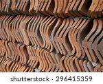 Wall Made From Red Clay Roof...