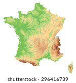 high detailed france physical... | Shutterstock .eps vector #296416739