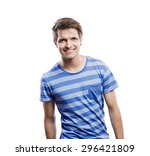 stylish handsome young man... | Shutterstock . vector #296421809