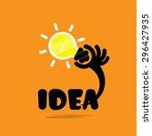creative bulb light idea flat... | Shutterstock .eps vector #296427935