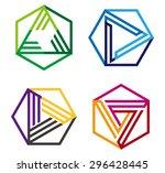 abstract hexagonal vector logo... | Shutterstock .eps vector #296428445