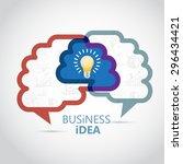 brainstorming creative idea   Shutterstock .eps vector #296434421