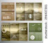 set of business reports  cards  ... | Shutterstock .eps vector #296437301