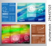 brochure template  cover layout ... | Shutterstock .eps vector #296437325
