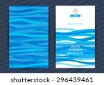 bright summer holidays cards...   Shutterstock .eps vector #296439461