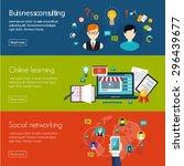 management digital marketing... | Shutterstock .eps vector #296439677
