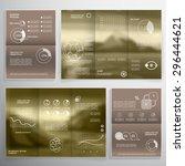 brochure design and... | Shutterstock .eps vector #296444621