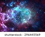 star field in space a nebulae... | Shutterstock . vector #296445569