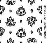 hand drawn paisley and mehendi... | Shutterstock .eps vector #296446631