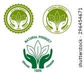 natural  organic and premium...   Shutterstock .eps vector #296454671
