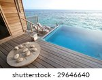 private pool and game board in... | Shutterstock . vector #29646640