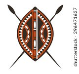 Masai Shield And Spears