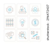set of vector business icons... | Shutterstock .eps vector #296472437