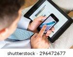 digital tablet  mobile phone ... | Shutterstock . vector #296472677