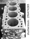 open block of four cylinder... | Shutterstock . vector #296474285