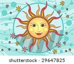 hippie sun   vector | Shutterstock .eps vector #29647825