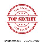 top secret rubber stamp.top... | Shutterstock .eps vector #296483909
