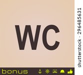 wc sign icon   Shutterstock .eps vector #296485631