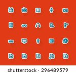 simple paper icons of...