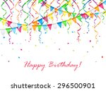 birthday background with... | Shutterstock . vector #296500901