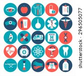 medical icon set. | Shutterstock .eps vector #296505077