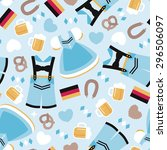 seamless happy oktoberfest... | Shutterstock .eps vector #296506097