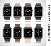 set of 8 modern shiny smart... | Shutterstock .eps vector #296507291