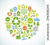 vector ecological illustration... | Shutterstock .eps vector #296508245