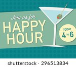 join us for happy hour today... | Shutterstock .eps vector #296513834