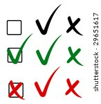 check mark  tick and cross.... | Shutterstock .eps vector #29651617