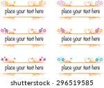 vector set  calligraphic design ... | Shutterstock .eps vector #296519585