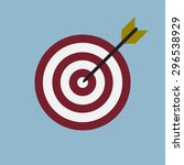 target with arrow  goal achieve ... | Shutterstock .eps vector #296538929