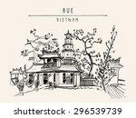 hue  vietnam  southeast asia.... | Shutterstock .eps vector #296539739