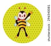 bee cartoon theme elements | Shutterstock .eps vector #296540081