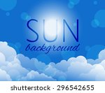 Vector Sky Background With...