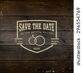 save the date badges cards and... | Shutterstock .eps vector #296554769