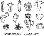 vector collection hand draw of... | Shutterstock .eps vector #296558894