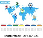 colorful modern infographic... | Shutterstock .eps vector #296564321