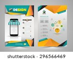 vector design page template... | Shutterstock .eps vector #296566469