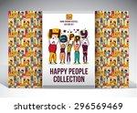 happy people set big group... | Shutterstock .eps vector #296569469