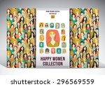 happy woman collection set. set ... | Shutterstock .eps vector #296569559