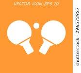 table tennis icon. flat design... | Shutterstock . vector #296572937