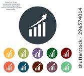 vector growing graph icon | Shutterstock .eps vector #296574014
